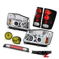 テールライト For 2004-2015 Titan Pro Chrome Projector Tail Lights Driving Fog 3rd Brake Cargo 2004年...