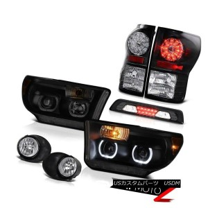 テールライト 07-13 Toyota Tundra SR5 Headlights Foglamps Roof Cargo Light Taillamps Dual Halo 07-13トヨタ...