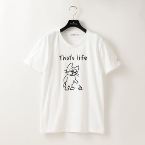 SALE【ギルドプライム(GUILD PRIME)】 【SANDER STUDIOxGUILD PRIME】WOMENS CAT THAT'S LIFE Tシャツ ホワイト