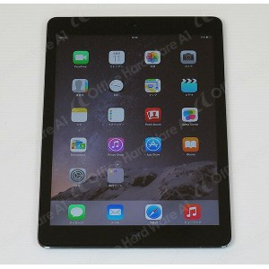Apple AU ipad Air 本体 Wi-Fi CellulariOS 8.3(12F69)16GB【MD791JA/A】Model A1475 スペースグレイ【中古】【送料無料】