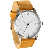 MVMT Watches White Face with Tan Leather Strap Men's Watch 男性 メンズ 腕時計 【並行輸入品】