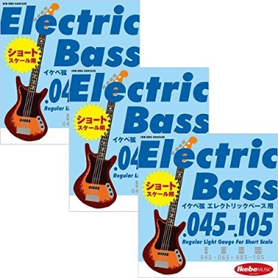 "Ikebe Original Electric Bass Strings ""イケベ弦 ショートスケール・エレキベース用 045-105"" [Regular Light Gauge For Short..."