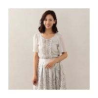 【SALE(伊勢丹)】 TO BE CHIC/TO BE CHIC  タイプライターエンブロイダリーコンビカットソー グレー 【三越・伊勢丹/公式】 レディースウエア~~Tシャツ~~その他