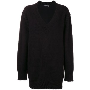 T By Alexander Wang distressed sweater dress - ブラック