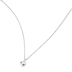 ペンダントSilver Child's Heart Locket (approx 9mm) with tiny diamond (0.01ct) and 14 Necklace by D for...