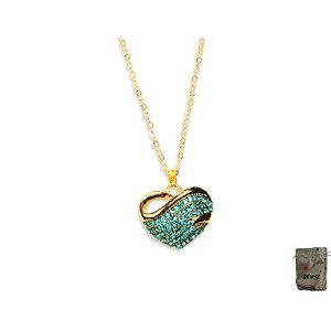 男性向けネックレスOriginal Enez 46?cm Necklace with Heart Pendant (2.5?cm x 2.5?cm) R2274?18ct Gold Plated +...