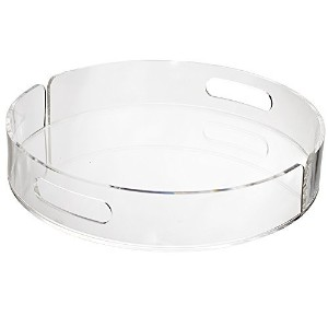 """12"""" Round Clear Plastic Serving Tray"""