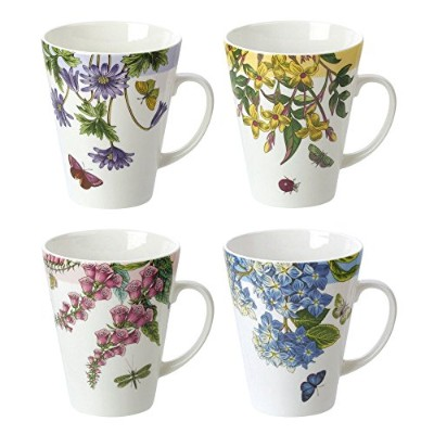 Portmerion Assortedセットof 4 Mugs