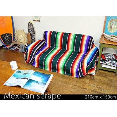 RUG&PIECE Mexican Serape made in mexcico ネイティブ メキシカン サラペ メキシコ製 210cm×150cm (rug-6175)