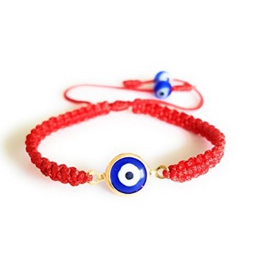 Baby Red String Evil Eye Bracelet with Hanging Evil Eyeビーズの保護とGood Luck