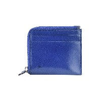 ユニセックス IL BUSSETTO ZIPPED WALLET WITH 2 EXTERNAL CREDIT CARD SLOTS 小銭入れ ブルー