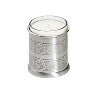 Wentworth Pewter - Medieval Pewter Candle Votive - H:90mm Dia:75mm