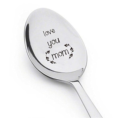 Love You Mom – コーヒースプーンママギフト – Flatware Spoon – Trendy spoon-キュートスプーン – 彫刻スプーン – Spoon Gift...