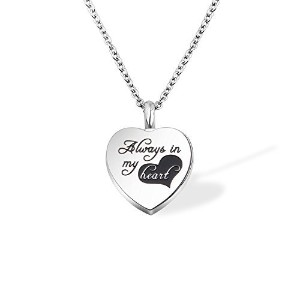 ensianth Urn Necklaces For灰Always In My Heartメモリアルネックレス記念品鋼火葬ペンダントジュエリー