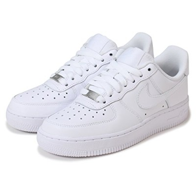 [ナイキ] NIKE WMNS AIR FORCE 1 07 315115-112 (25cm, White/White) [並行輸入品]