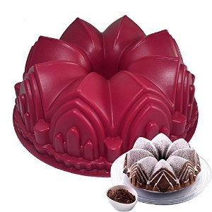 シリコンケーキ型3d誕生日ケーキパンBig Crown城Mould DecoratingツールLarge BreadフォンダンDIY Baking pastryツールby xiaolanwelc