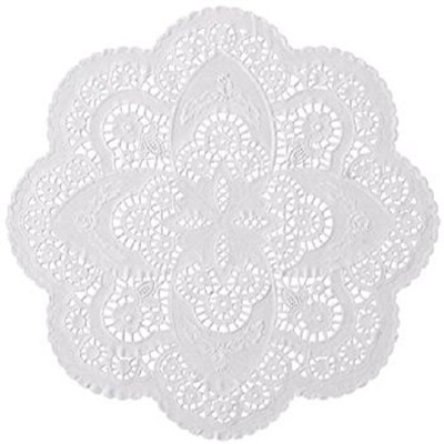 50 ct. 30cm French Paper Lace Doilies Wedding Party Decor; Beautiful Pattern; Use them for various...