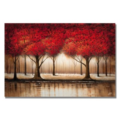 Trademark Art Parade of Red Trees by Rio Canvas ウォールアート 16 by 24-Inch MA0301-C1624GG