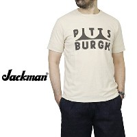 JACKMAN ジャックマン T-SHIRT PITTSBURGH IVORY MADE IN JAPAN