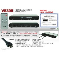 5TO1 HDMIスイッチャー VE395