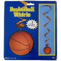 Basketball Whirls (5 /Pkg)