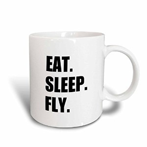 3dローズInspirationzStore Eat Sleepシリーズ–Eat Sleep Fly–Fun Gifts for Pilotsフライトクルーand frequentチラシ–...