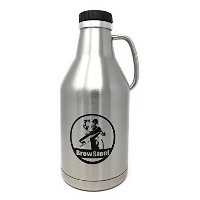 brewsteel Growler水差しステンレススチール二重壁断熱Holds 64オンスまたは2リットルのビール耐久性ハンドルfor Easy Holding and Pouring