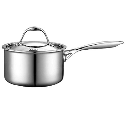 Cooks Standard Multi-Ply Clad Stainless-Steel 1-1/2-Quart Covered Sauce Pan by Cooks Standard
