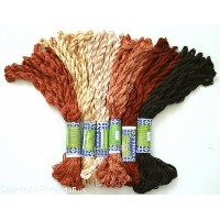 New ThreadNanny 60 Skeins of Silky Hand Embroidery Cross Stitch Floss Threads - BROWN TONES by...