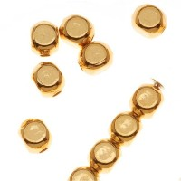 squareroundedbeads、4 mm、22kgoldplated