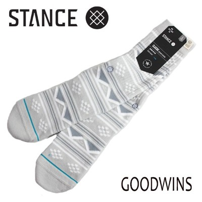 STANCE・スタンス/SOCKS・靴下・ソックス/18SU/MADE IN U.S.A/THE CLASSIC CREW・GOODWINS/GRY・グレー/L(25.5-29cm)/メンズ/USA...