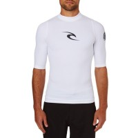 リップカール ラッシュガード Rip Curl Short Sleeve Comp Rash Vest White