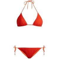ミッソーニ 上下セット Pizzo chevron-knit triangle bikini Lava-red