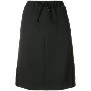 Salvatore Ferragamo drawstring skirt - ブラック