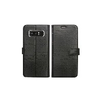 Galaxy Note 8 Lettering Diary ブラック モバイルアクセサリ ケース・カバー・ホルスター Android用 au WALLET Market