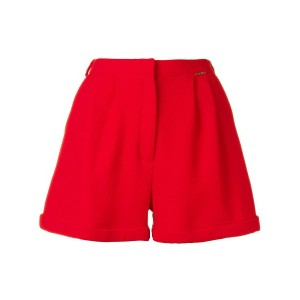 Styland high-waisted pleated shorts - レッド