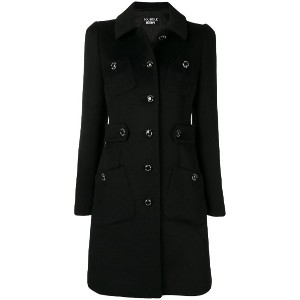 Boutique Moschino classic single-breasted coat - ブラック