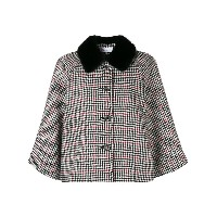 Red Valentino houndstooth cape - ブラック