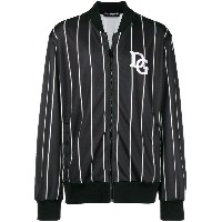 Dolce & Gabbana striped logo bomber jacket - ブラック