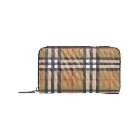 Burberry brown classic check wallet - ブラウン