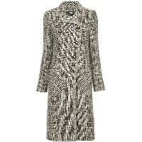 Chanel Vintage tweed midi coat - ブラウン