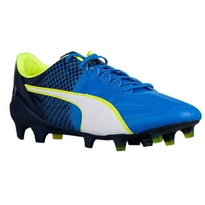 プーマ メンズ サッカー シューズ・靴【evoSPEED 1.5 FG】Electric Blue Lemonade/Puma White/Peacoat
