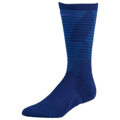 ナイキ ユニセックス バスケットボール【Disrupter Elite Quick Crew Socks】Deep Royal/Hyper Cobalt/Persian Violet