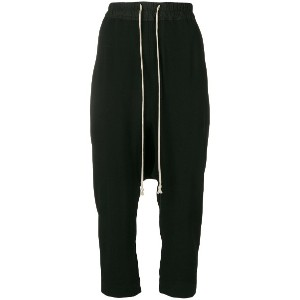 Rick Owens cropped track pants - ブラック