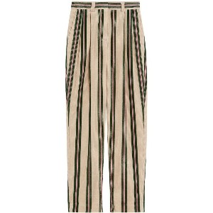 Burberry Roll-up Cuff Striped Corduroy Trousers - ヌード&ナチュラル