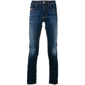Diesel faded slim fit jeans - ブルー