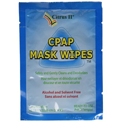 Citrus II Travel CPAP Mask Wipes, 12 Wipes by Citrus II