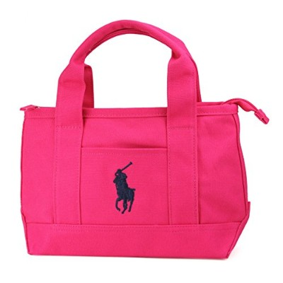 POLO by Ralph Lauren ポロ ラルフローレン RA1000 SCHOLAR TOTE 2 2 SM スモール キャンバス トート ハン BAJAPINK/NAVY SM ...