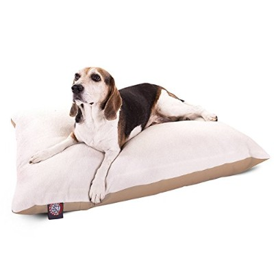 30x40 Khaki Rectangle Pet Dog Bed With Removable Washable Cover By Majestic Pet Products Small to...