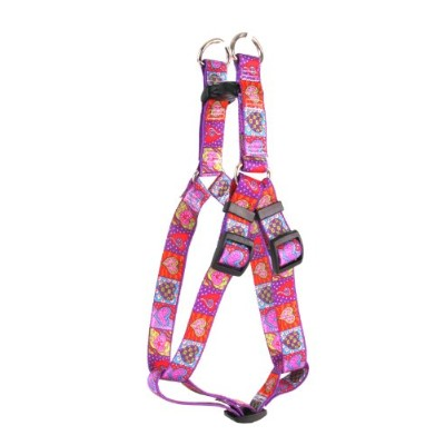 Yellow Dog Design SI-CH102M Crazy Hearts Step-In Harness - Medium